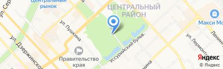 ДЮСШ по теннису на карте Хабаровска