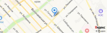 Средняя общеобразовательная школа №12 на карте Хабаровска