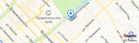 Гостиница на карте Хабаровска