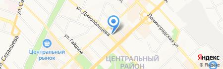 Здравушка на карте Хабаровска