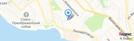Флагман на карте Хабаровска