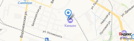Ночлег на карте Хабаровска