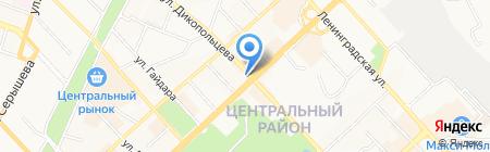 Хлебное место на карте Хабаровска