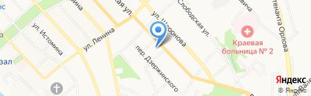 Арбат на карте Хабаровска