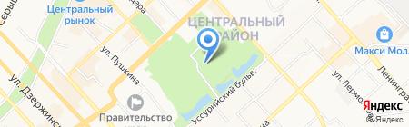 Галатея Стайл на карте Хабаровска