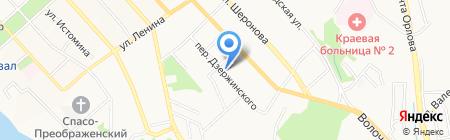 Уссурийское на карте Хабаровска