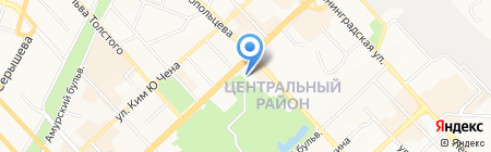 Хабаровский Аэропорт на карте Хабаровска