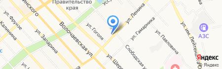 Адвокатский кабинет Петрушенко О.В. на карте Хабаровска
