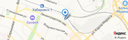 Ассоциация кровельщиков на карте Хабаровска