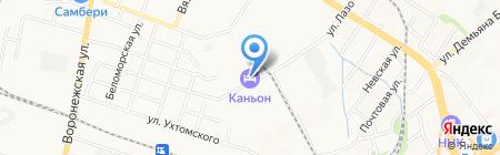 Каньон на карте Хабаровска