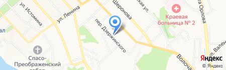 Дамские пальчики на карте Хабаровска