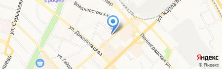 Магазин по продаже овощей и фруктов на карте Хабаровска