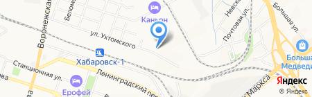 Бурстрой 27 на карте Хабаровска