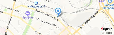 Психологический кабинет на карте Хабаровска