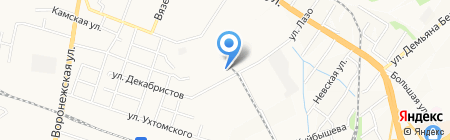 Хабаровский комбинат продуктов на карте Хабаровска
