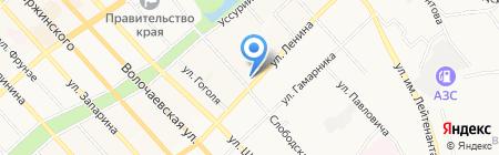 Наслаждение на карте Хабаровска