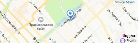 Баку на карте Хабаровска