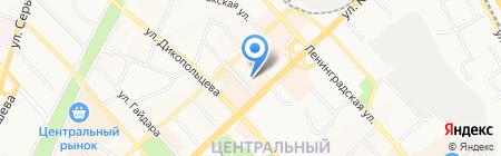 Аэробика на карте Хабаровска