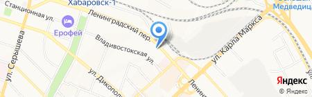 Константа ДВ на карте Хабаровска