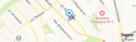 Продуктовый магазин на Волочаевской на карте Хабаровска