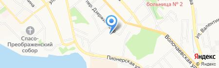 Мар-Кюэль на карте Хабаровска