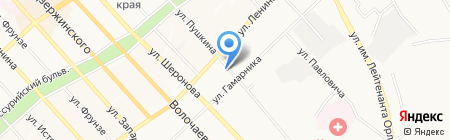 Берёзка на карте Хабаровска