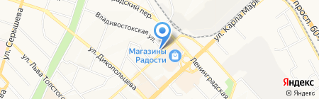 Центр социальной поддержки населения по г. Хабаровску на карте Хабаровска