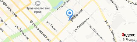 Азалия на карте Хабаровска