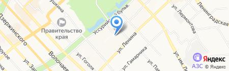 Средняя общеобразовательная школа №32 на карте Хабаровска