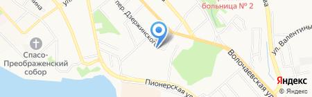 Ковка ДВ на карте Хабаровска