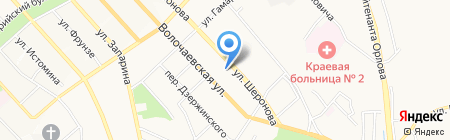 Сытый Федот на карте Хабаровска