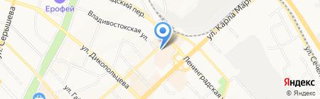 Управление транспорта на карте Хабаровска