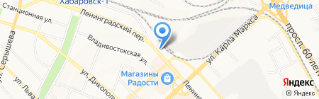 Социальная аптека на карте Хабаровска