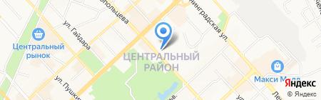 Городская клиническая поликлиника №3 на карте Хабаровска