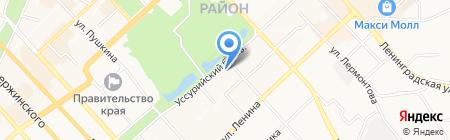 Дискавери Турс на карте Хабаровска
