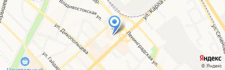 Карузо на карте Хабаровска