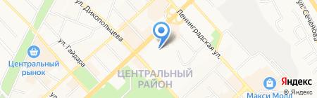 ДВГГУ на карте Хабаровска