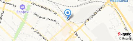 Хабаровское Линейное управление МВД России на транспорте на карте Хабаровска