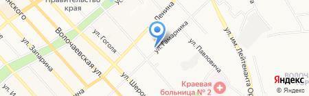 Вариант на карте Хабаровска