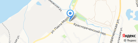 Шиномонтажная мастерская в Краснореченском переулке на карте Хабаровска