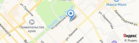 Аквамарин на карте Хабаровска