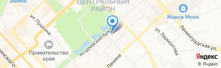 Вагнар Денталь на карте Хабаровска