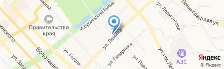 Магазин по продаже фруктов и овощей на карте Хабаровска