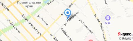 Автозапчасти на карте Хабаровска