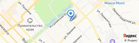 Монолит на карте Хабаровска