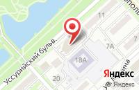 Схема проезда до компании Инновационная рыбная компания в Хабаровске