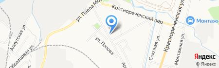 Артемовское на карте Хабаровска