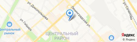 Гелог на карте Хабаровска