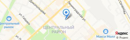 Школа ДВ на карте Хабаровска