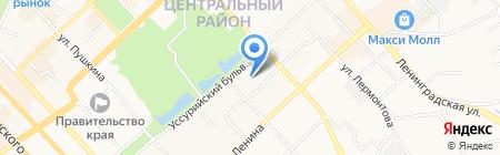 Детский сад №191 на карте Хабаровска